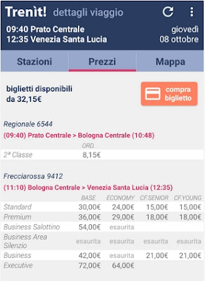 QUALE APP POSSO USARE SUL MIO SMARTPHONE PER COMPRARE BIGLIETTI DEI TRENI IN ITALIA