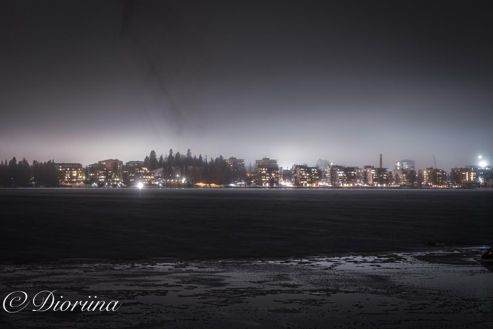 Tampere tammikuisena iltana