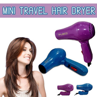 Hairdryer Fleco Foldable Lipat Travel