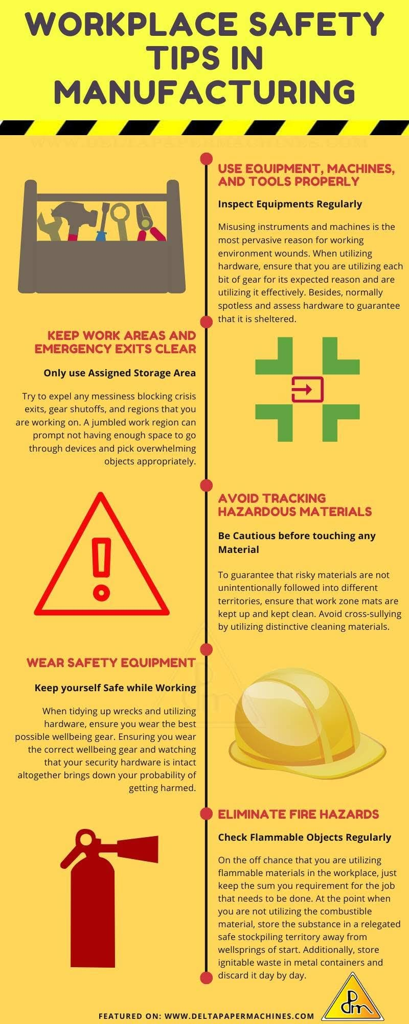Workplace Safety Tips In Manufacturing #infographic