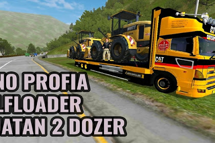 Download MOD Truck Hino Profia Selfloader Angkut Bulldozer BUSSID By BRONFIRE