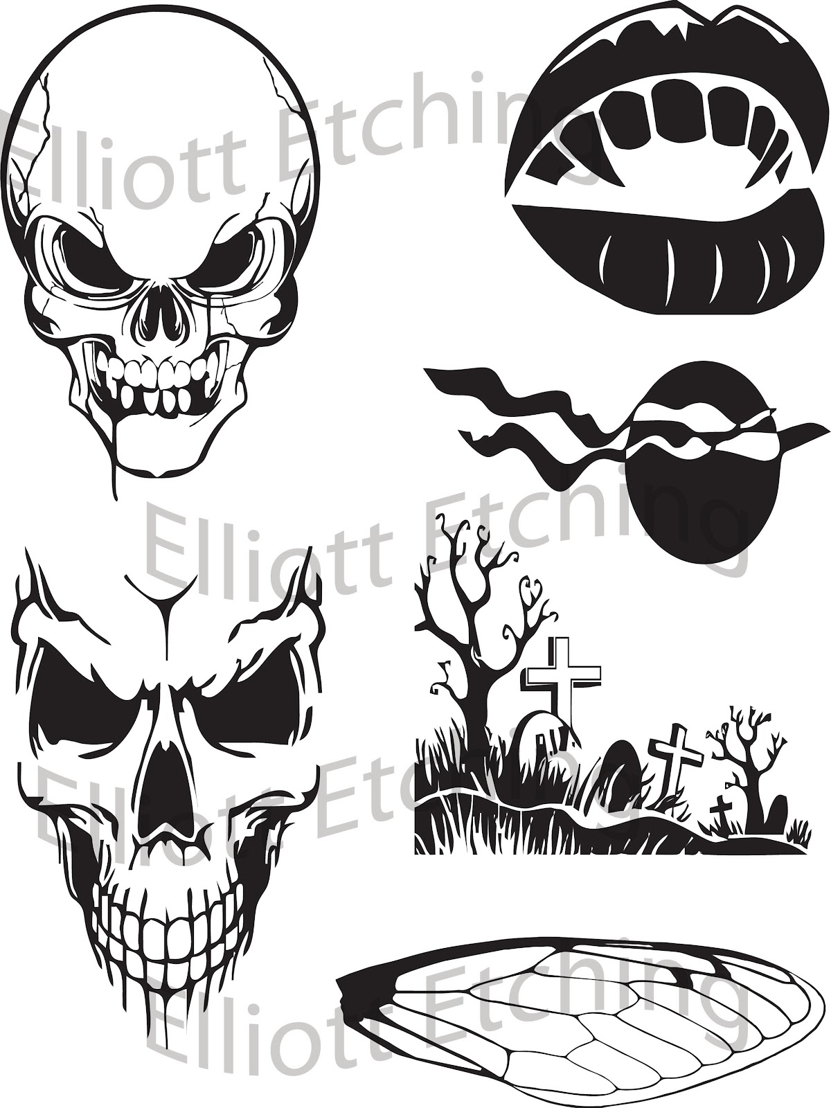 Elliott Etching: Sandblasting Stencils