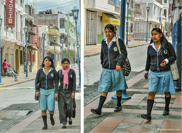 Estudantes de Cotacachi, Equador