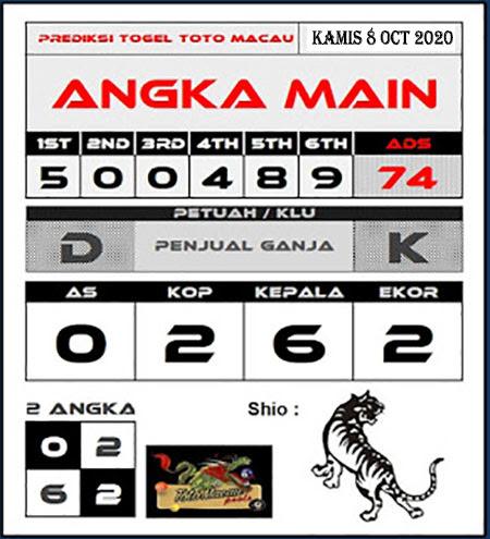 Prediksi Angka Main Toto Macau Kamis 08 Oktober 2020