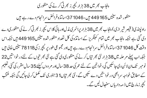 Eligibility Criteria For Upcoming 38000 Educators Jobs in Pakistan 2020-2021 via PPSC - www.ppsc.gop.pk