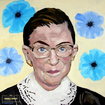 Ruth Bader Ginsburg oil painting by Merrill Weber