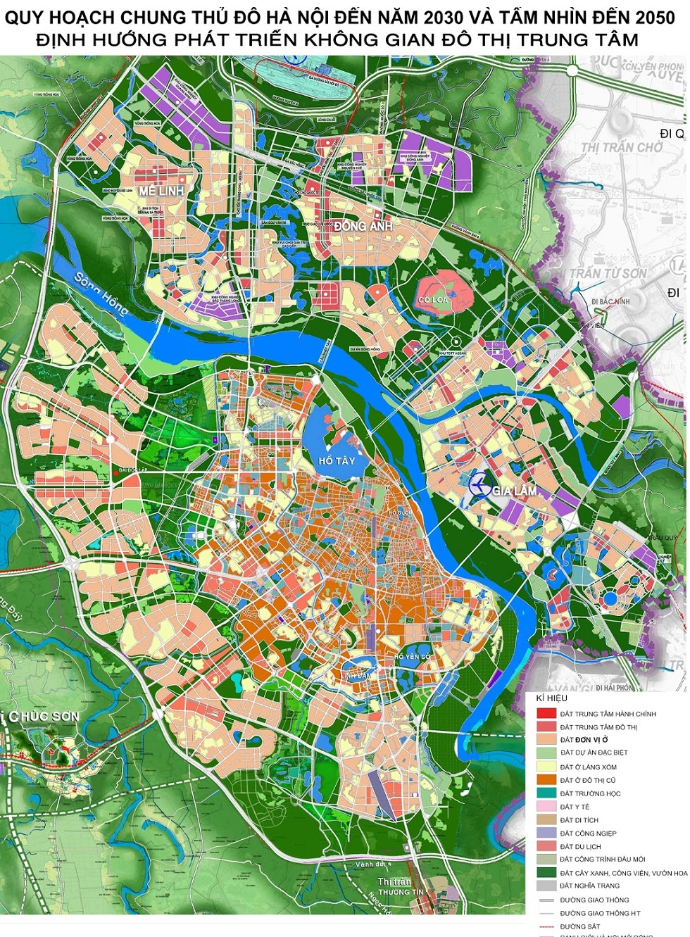 Quy hoạch Hà Nội đến năm 2030 và tầm nhìn 2050