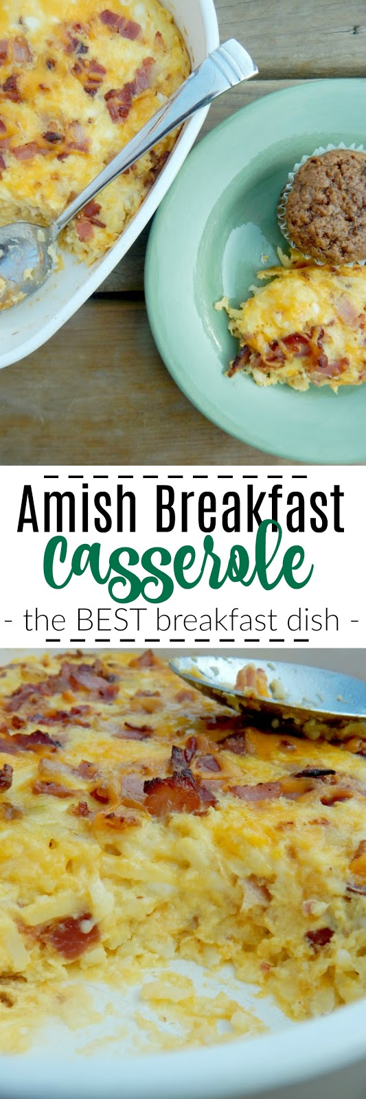 amish breakfast casserole #sweetsavoryeats