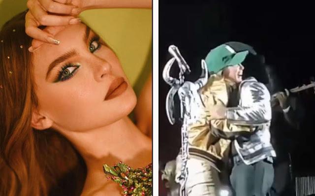 """Belinda interrumpe concierto de Christian Nodal para darle un BESO: """"es el mejor cantante"""""""