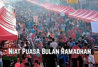 Niat puasa bulan ramadhan