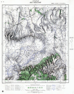 Ain Taoujdat Morocco 50000 (50k) Topographic map free download