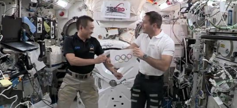 Hosheid and Thomas Astronauts see games in space [Olympics]