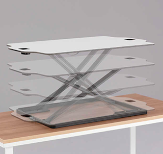 Safco Accent Portable Sit Stand Workstation