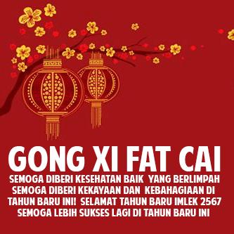 Gambar DP BBM Ucapan Selamat Imlek Gong Xi Fa Cai 2016