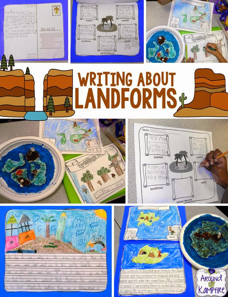 learning about landforms around the kampfire landforms creative writing project