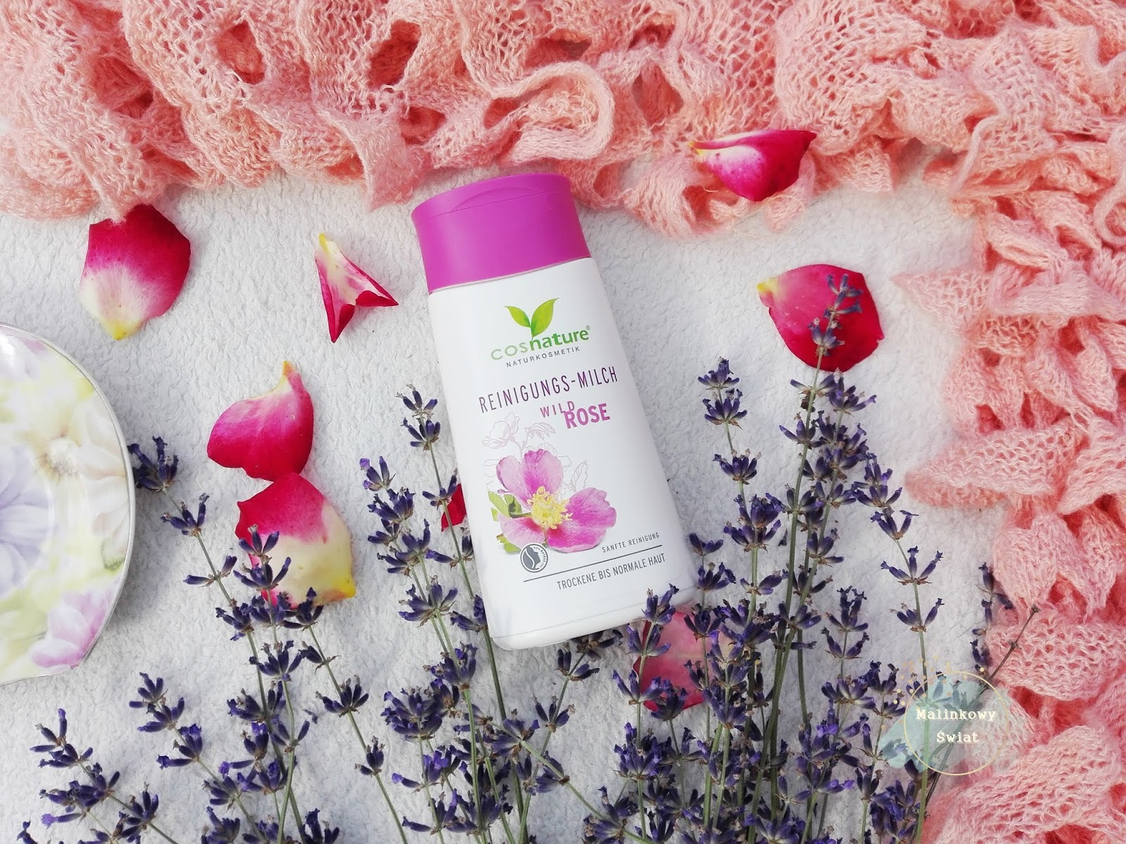 naturalne mleczko oczyszczające do twarzy z dziką różą,