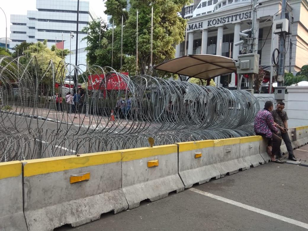 Jelang Sidang Perdana, Begini Penampakkan Sekitar Gedung MK
