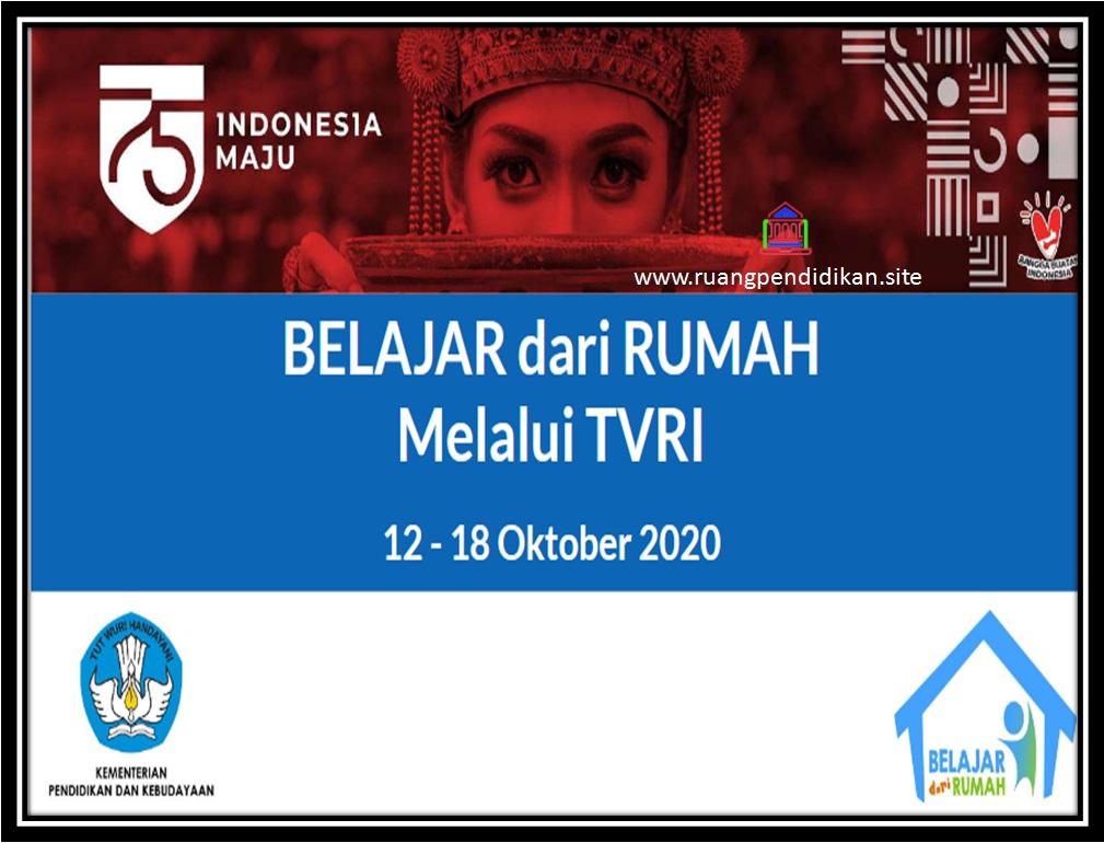 Jadwal BDR Di TVRI Tanggal 12-18 Oktober 2020