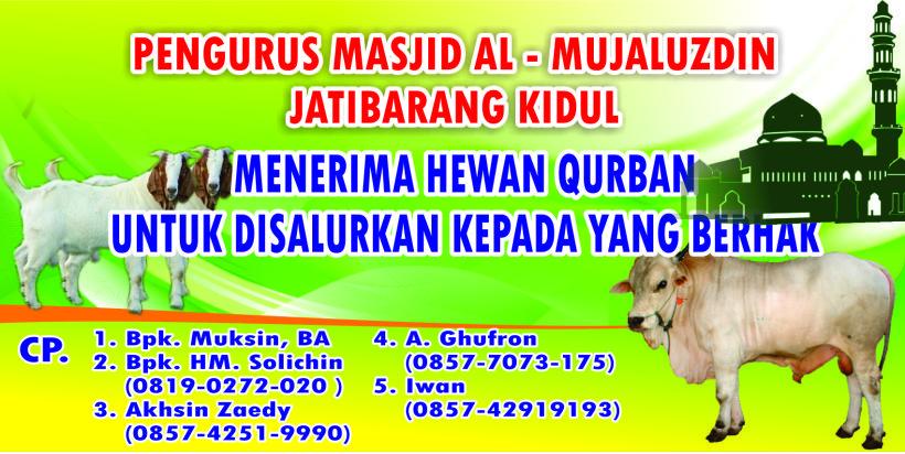 Contoh Desain Banner atau Spanduk Idul Adha