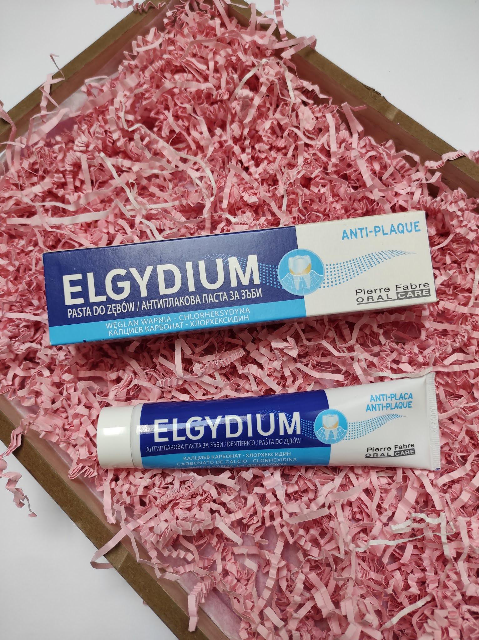 Pasta do zębów z węglanem wapnia i chlorheksydyną Elgydium