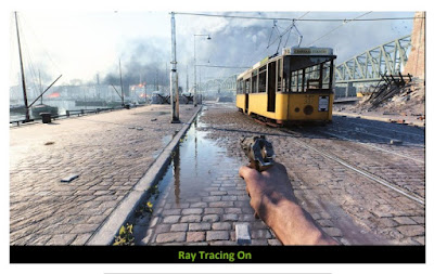BattleField V after activating the Ray Tracing feature