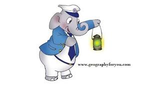 Indian railway's mascot - Bholu, the Guard Elephant