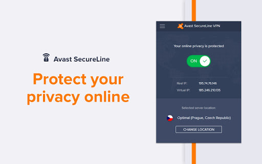 Avast secureline VPN Chrome extension