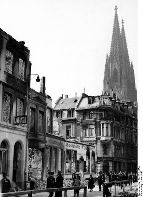 Bomb damage in Cologne from raid of 30/31 May 1942 worldwartwo.filminspector.com