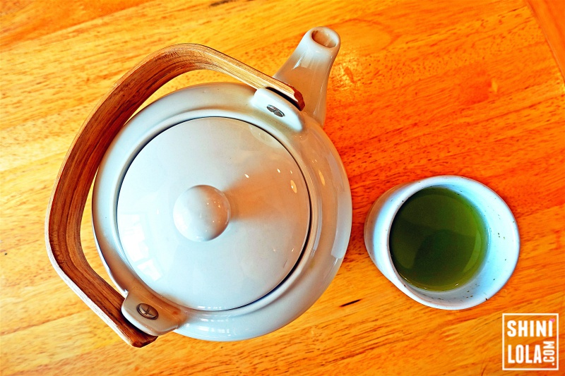 Hot Green Tea Pot