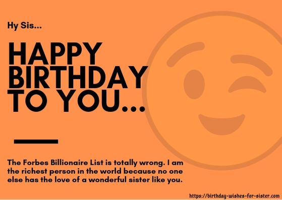 Enjoyable 200 Really Funny Birthday Wishes For Sister She Will Tribute You Personalised Birthday Cards Paralily Jamesorg