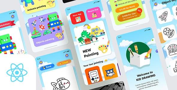 Kids Draws v1.0 - React Native App