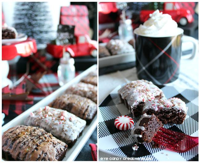 holiday bread recipes, peppermint mocha bread, salted caramel mocha bread