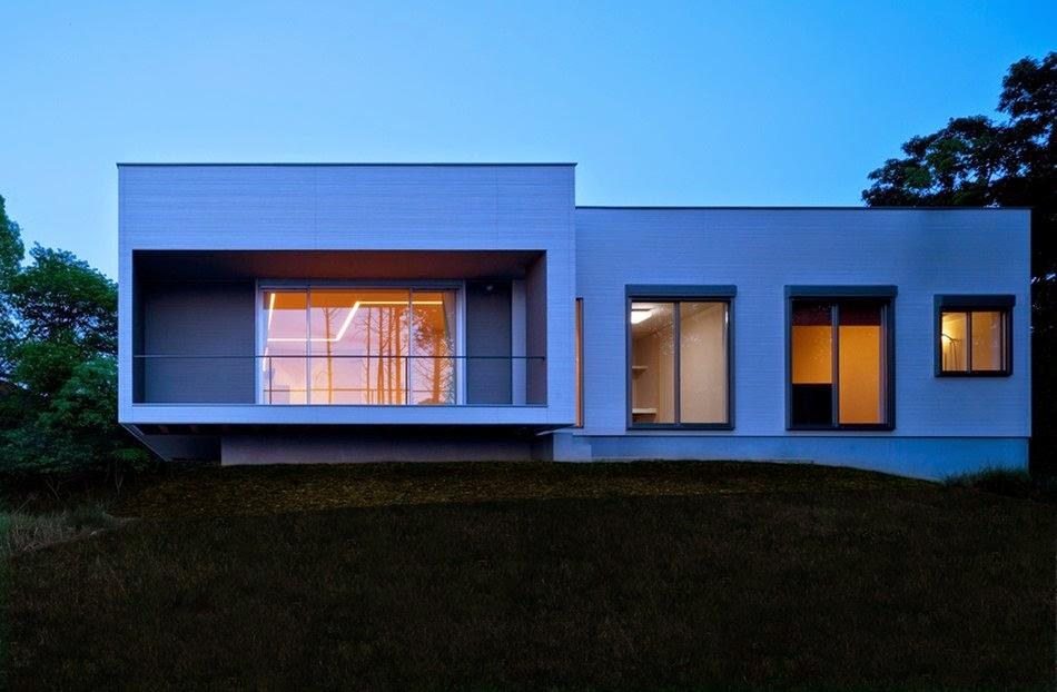 Fachadas de casas de una planta minimalistas fachadas de for Casa minimalista 2 plantas
