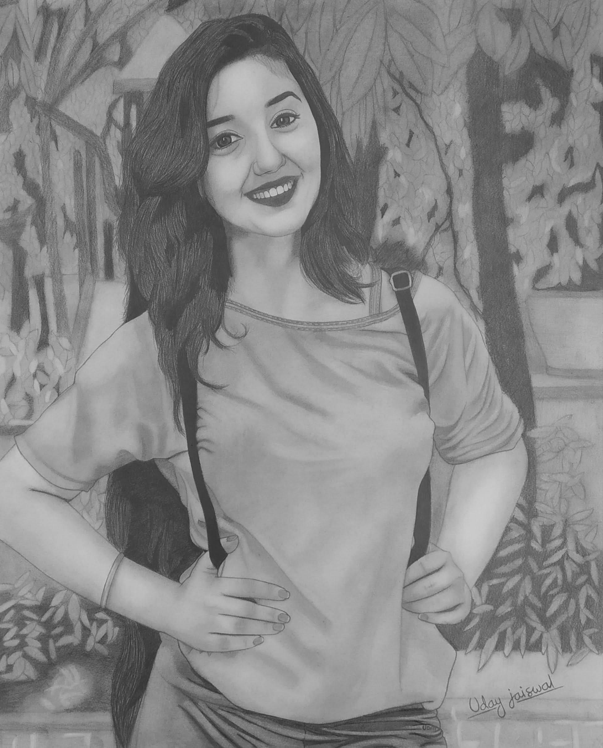 Ms. Ashnoor Kaur Realistic Portrait