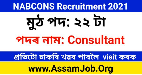 NABCONS Recruitment 2021 – Consultant Vacancy