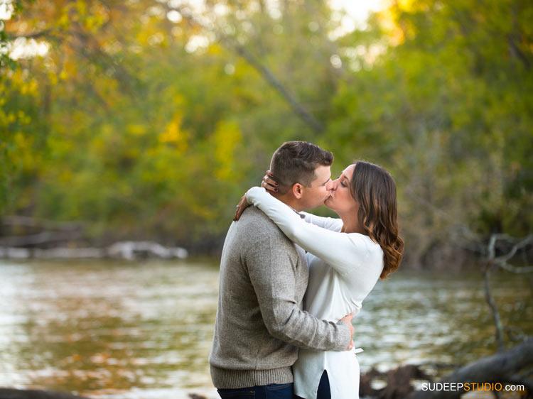 Huron Riverside Nature Engagement Session - SudeepStudio.com Ann Arbor Wedding Photographer