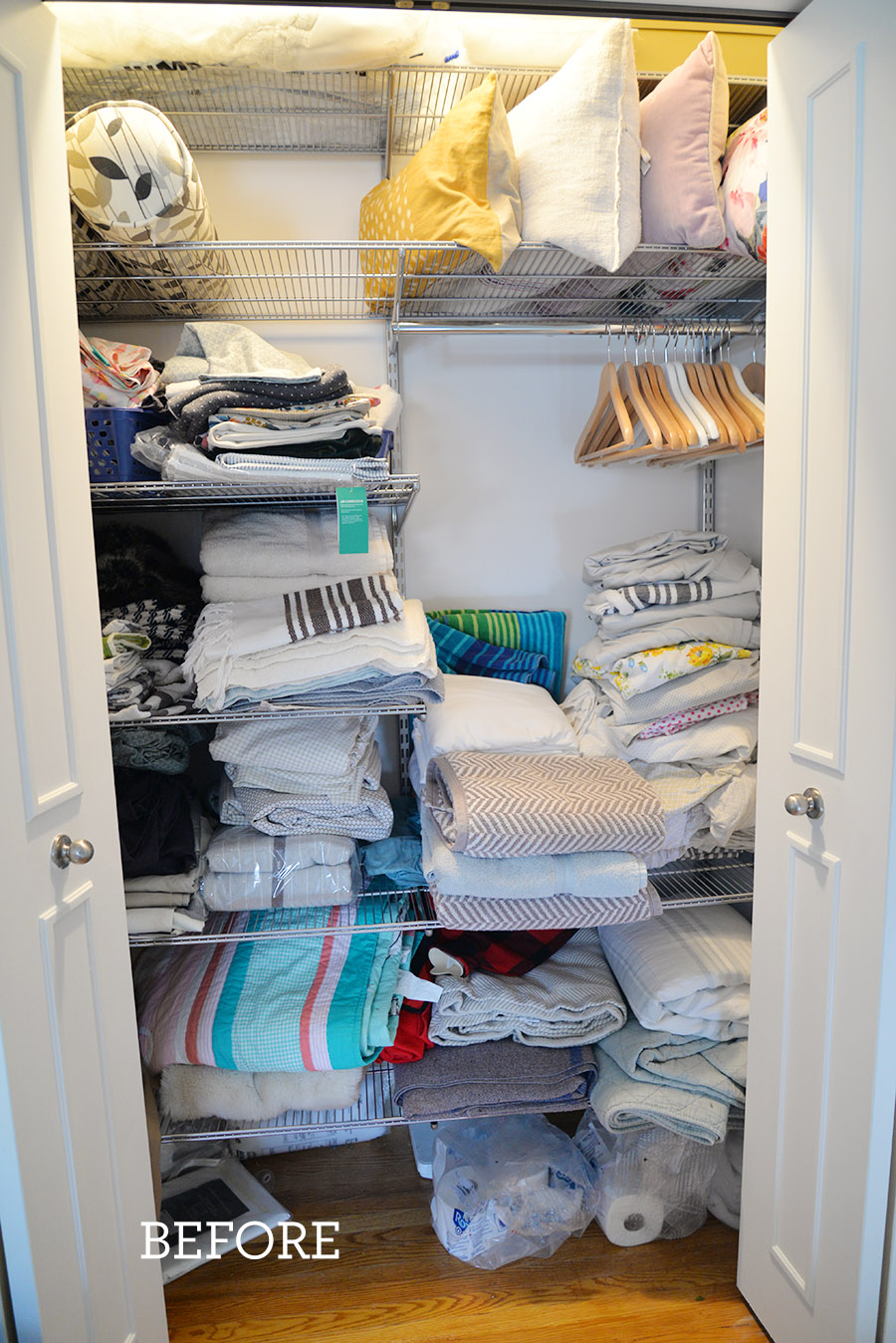 linen closet organization ideas, ideas for linen closet, how to store blankets, Ikea STUK organizers