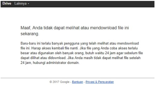 Cara Download Google Drive Melebihi Batas Limit