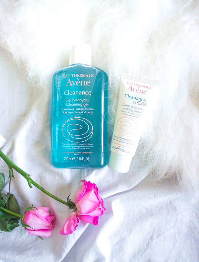 Avene Cleanance Gel Cleanser and Hydra Soothing Cream Review