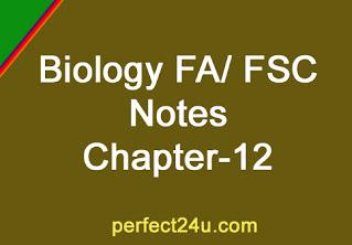 Biology Notes Fa Fsc Chapter No 12 Circulation