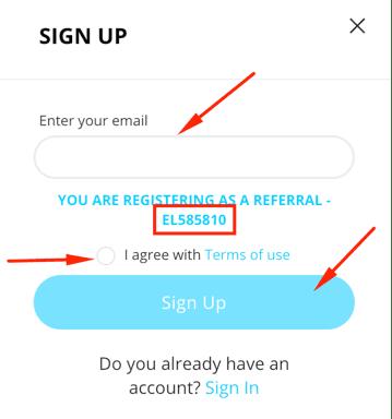 Регистрация в Elirtex 2