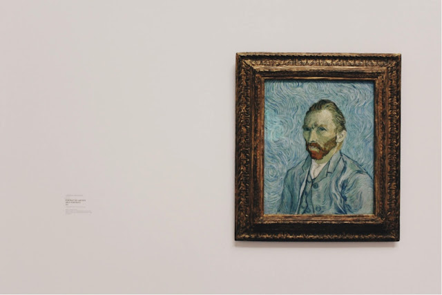 Vincent Van Gogh self-portrait on wall