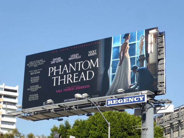 Phantom Thread movie billboard