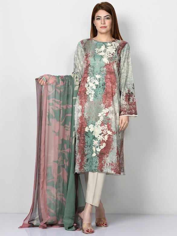 Limelight embroidered pret suit Beige color