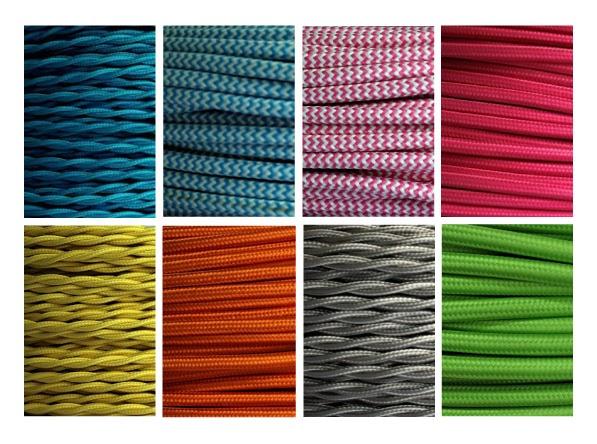 Cavi elettrici in tessuto colorati blog di arredamento e - Lampadari colorati design ...