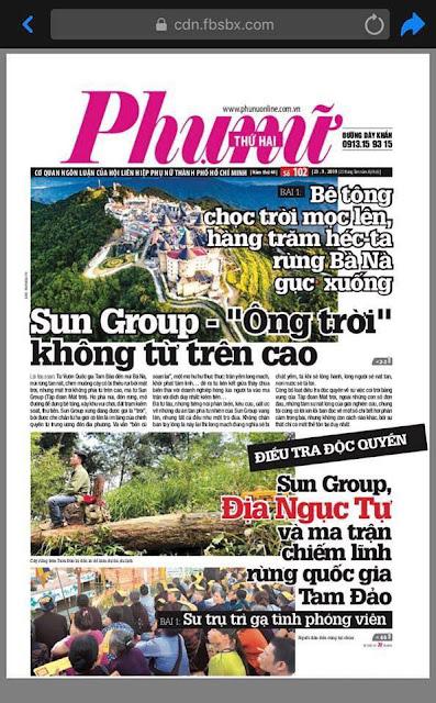 """""""Thành trì bất khả xâm phạm"""" Sun Group đã được lên báo"""