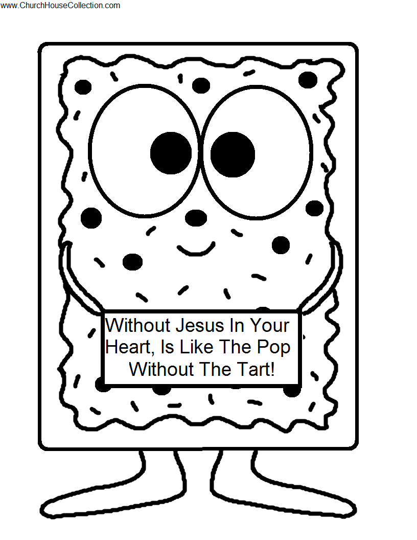 Church House Collection Blog Pop Tart Cutout Printable Template Craft For Kids Without Jesus