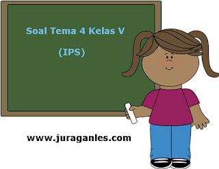 Soal Tematik Kelas 5 Tema 4 Kompetensi Dasar IPS dan Kunci Jawaban