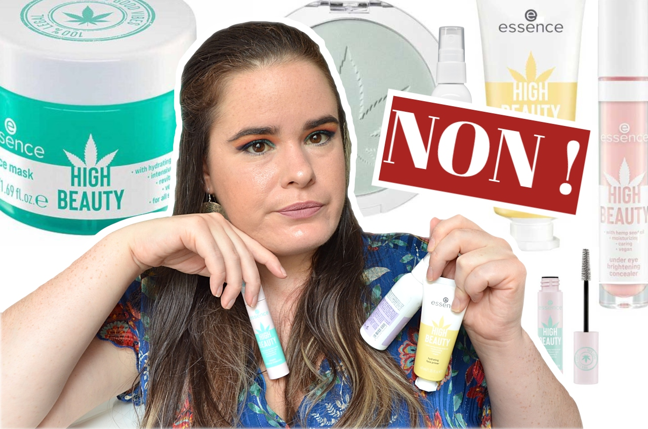 crash test high beauty produits soins et maquillage à base de cannabis et de chanvre essence cosmetics NON