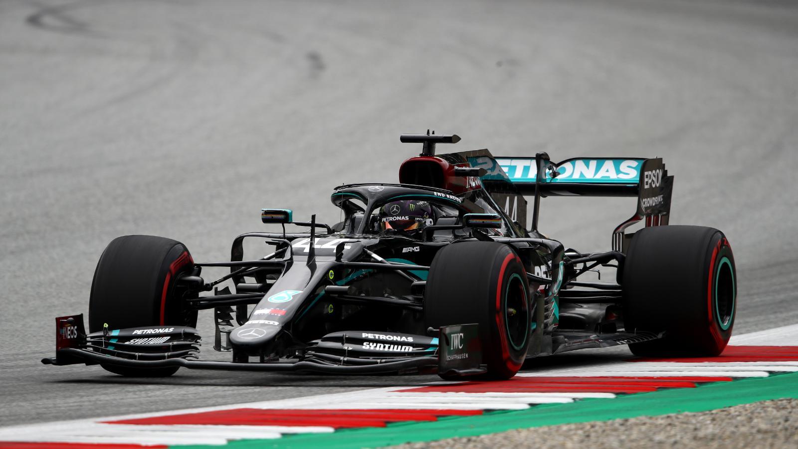 Formula 1: Lewis Hamilton fue el más rápido bajo la lluvia en Austria